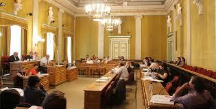 La salle des délibérations du Conseil départemental de la Corse du Sud à Ajaccio.