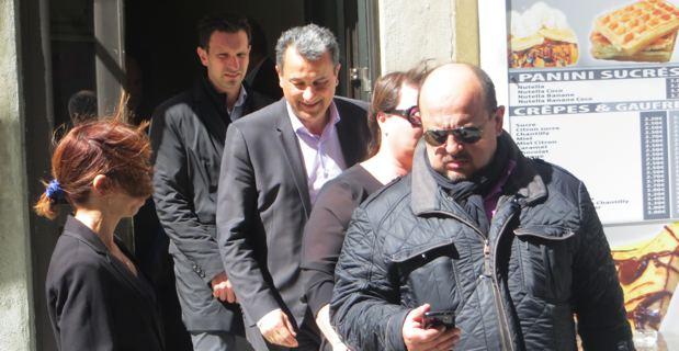 François Tatti et son équipe à l'issue de la réunion en urgence du MCD.