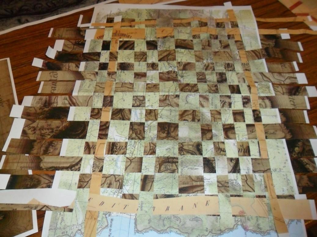 Tissage de cartes topographiques du village de Pietracorbara