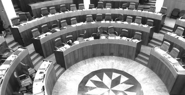 L'hémicycle de l'Assemblée de Corse.