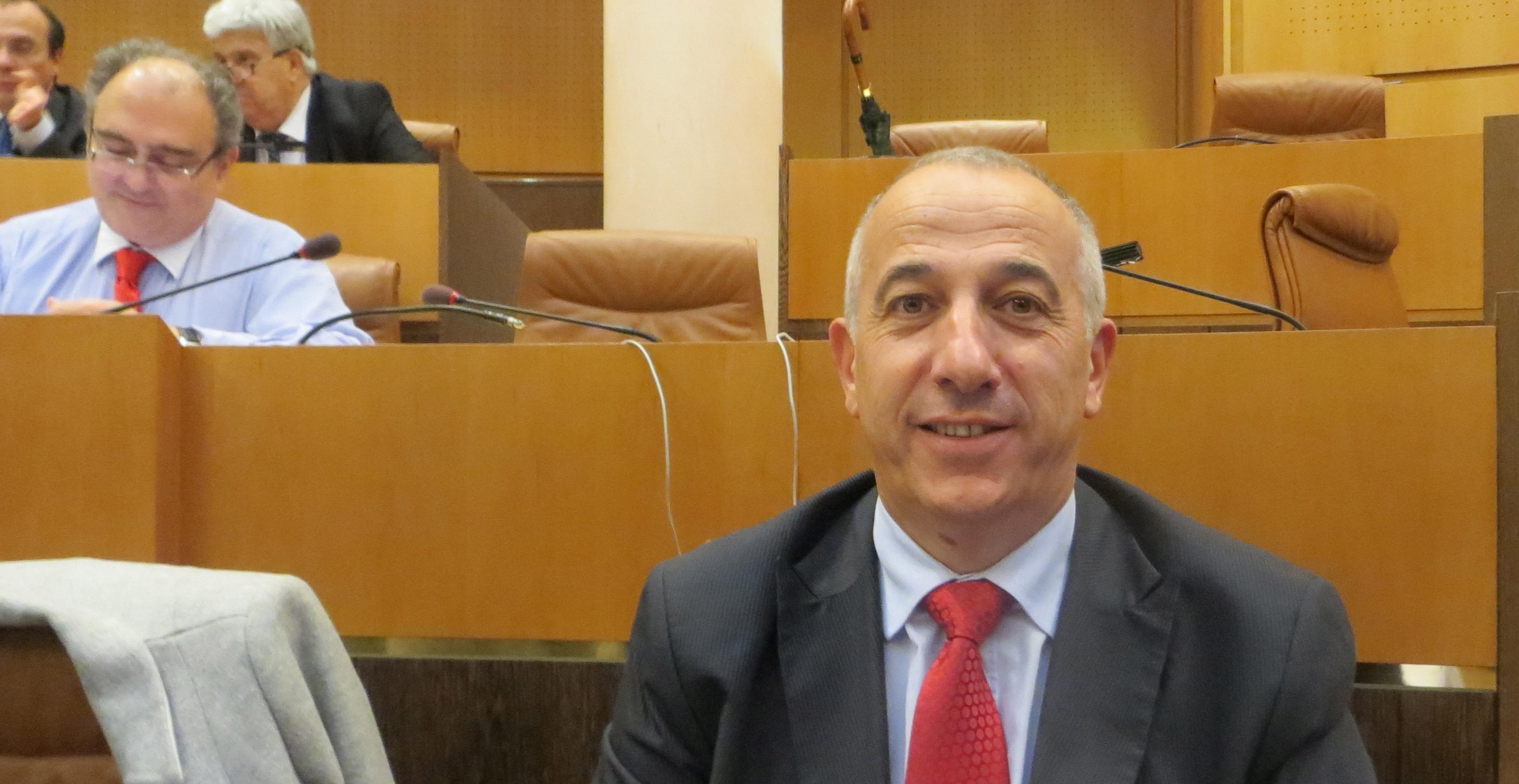 Pierre Ghionga, conseiller exécutif en charge de la langue corse.