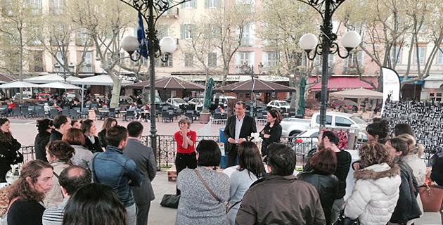 Francois Tatti, président du SYVADEC et Catherine Thiers-Campocasso, enseignante arts plastiques à l'université de Corse