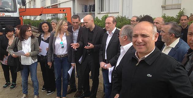 Exutoires d'eaux pluviales des Cannes-Salines-Le maire d'Ajaccio visite les chantiers