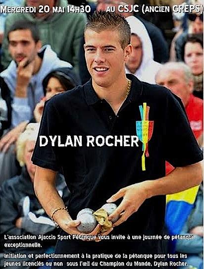 Ajaccio : Dylan Rocher avant le le festival International à pétanque