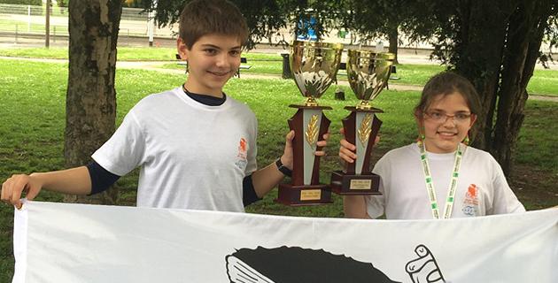 Albert Tomasi champion de France pupille 2015, Elise Tomasi vice-championne pupille fille (http://www.corse-echecs.com/)