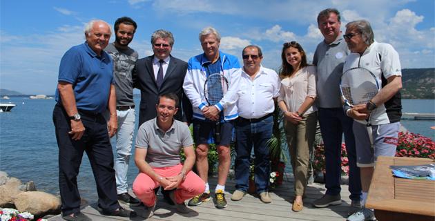De gauche à droite: C.Bimes, L.Lokoli, J-M.Soli, G.Mela, B.Borg, A.Papi, M.Ciabrini, C.James, .I.Nastase (Photos P.-V. Pietri