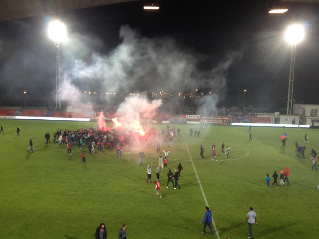GFC Ajaccio : On est en Ligue 1, on est en Ligue 1, on est, on est en Ligue 1