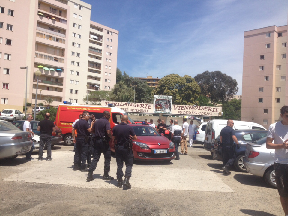 Ajaccio : Fusillade au quartier Pietralba. Un blessé