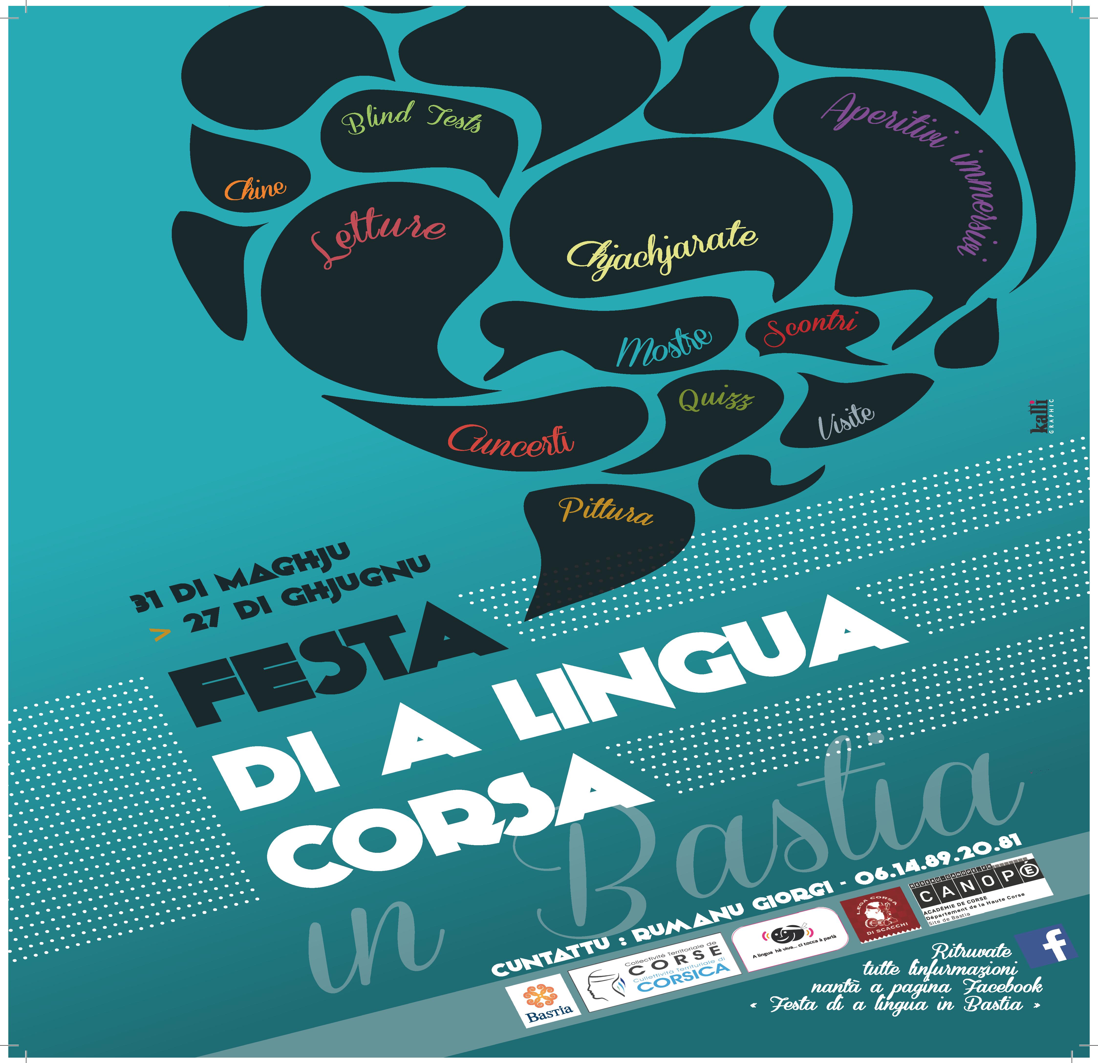 Festa di a lingua corsa in Bastia : Tout le programme