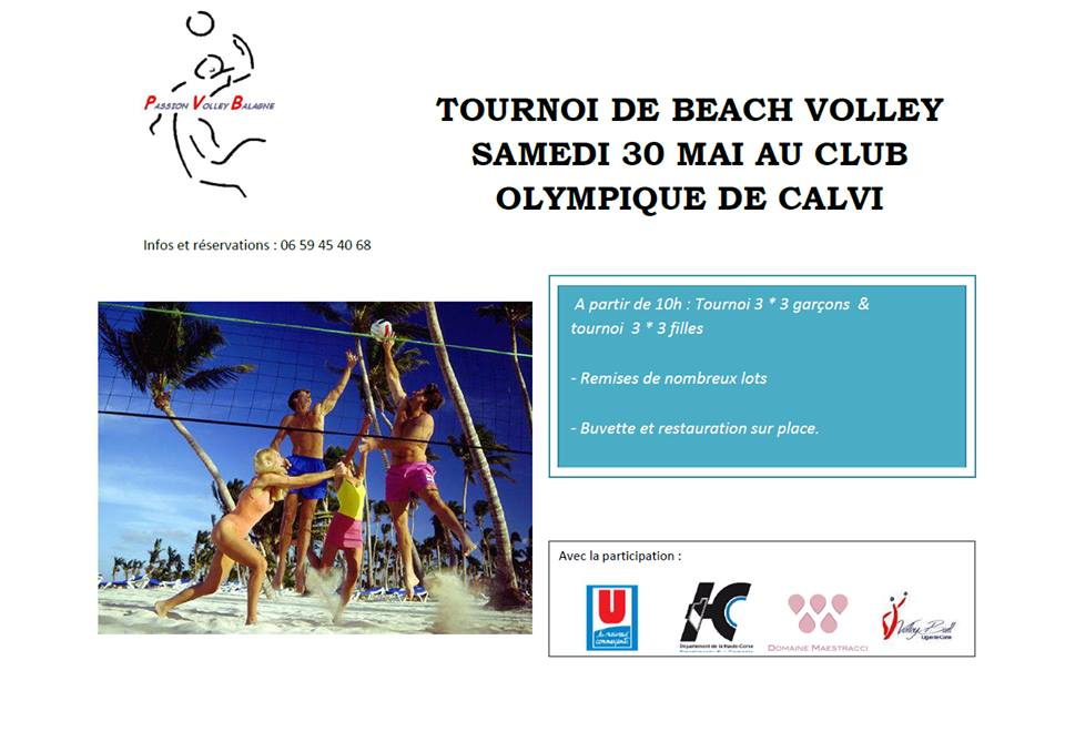 Un tournoi de beach-volley à Calvi