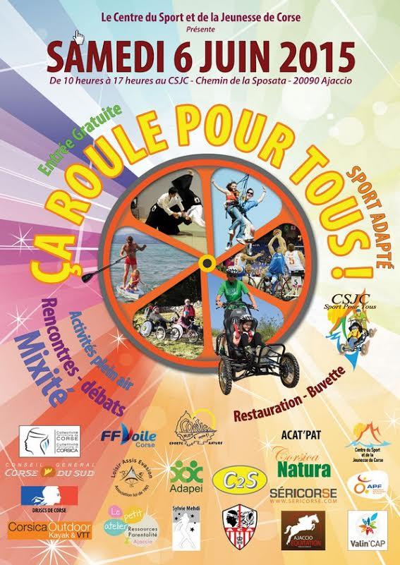 Le Centre du Sport et de la Jeunesse de Corse (CSJC) et ses partenaires organisent : « La troisième édition de Ça roule pour tous ! »