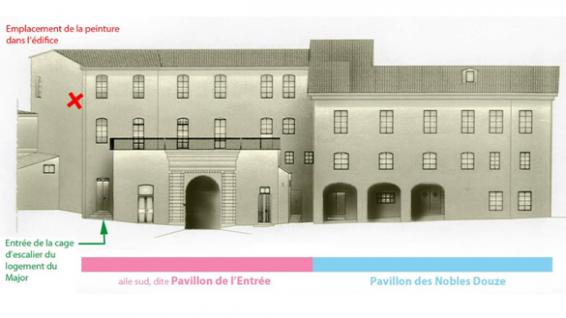 Le Pavillon des Nobles Douze, situé place du Donjon, à l'intérieur de la Ctadelle de Bastia.
