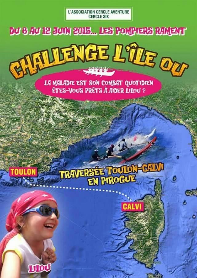 """Une traversée Toulon-Calvi en pirogue pour """"Lilou"""""""