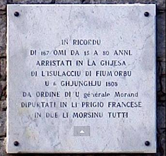 Mimoria di u Fium'Orbu : Pour ne pas oublier le 6 Juin 1808