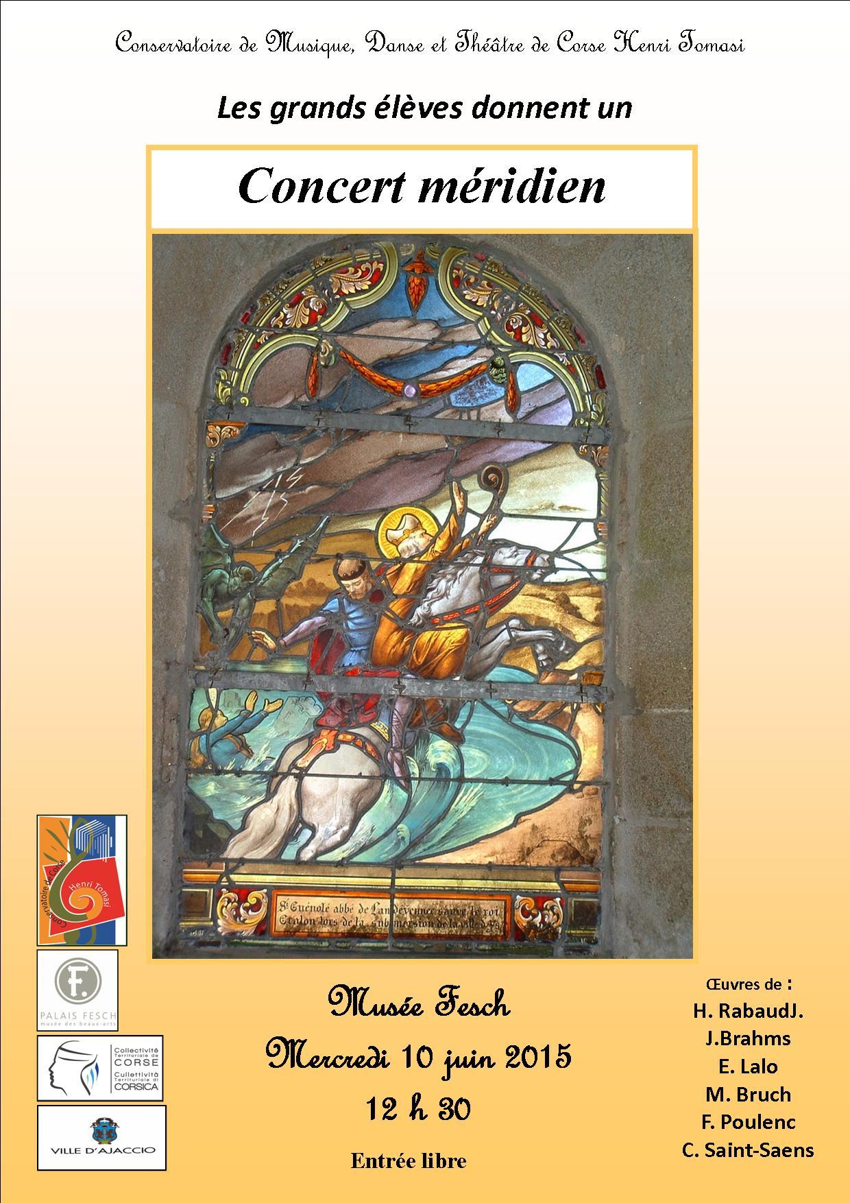 Concert Méridien à Ajaccio des élèves du conservatoire Henri Tomasi