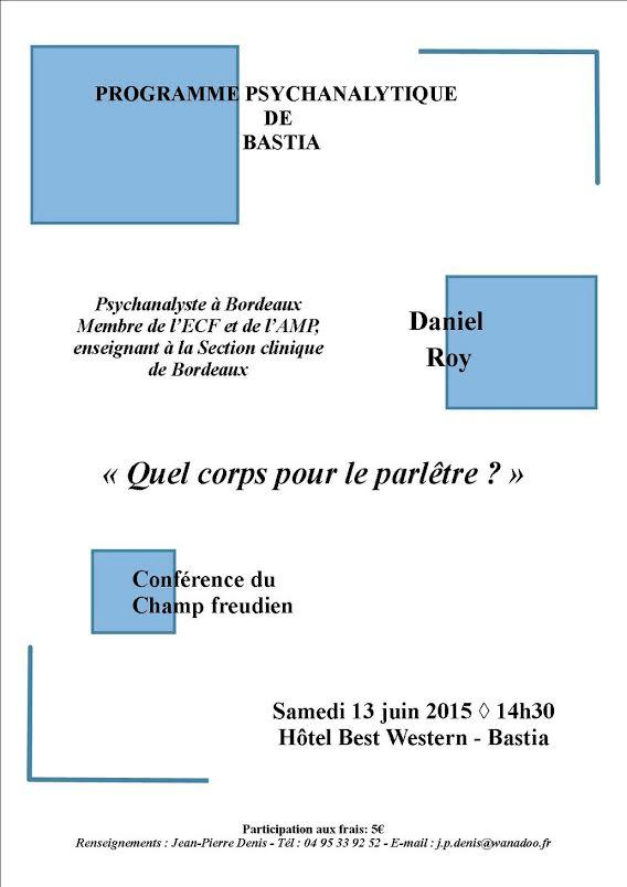 Bastia : Les rendez-vous de juin de l'association de la Cause Freudienne Restonica