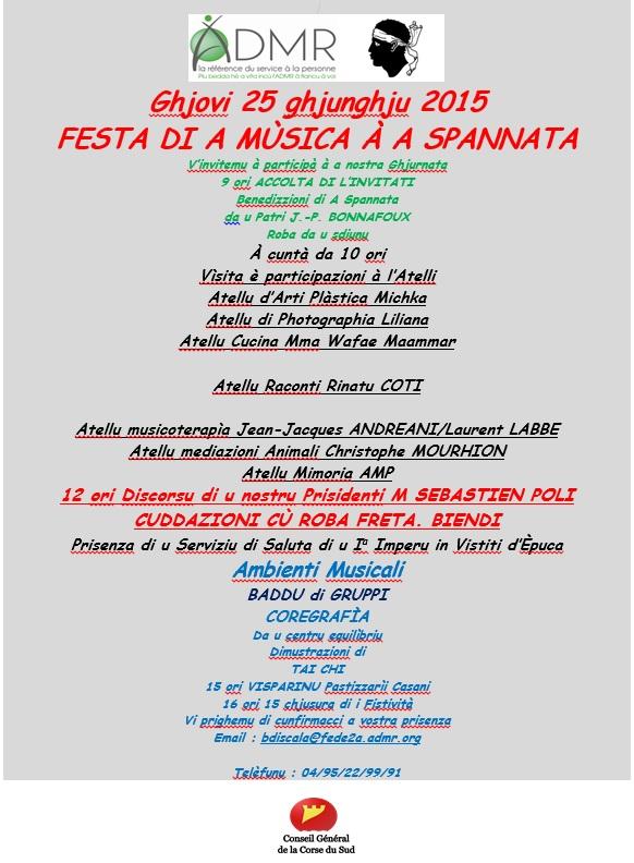 Festa di a musica à a Spannata
