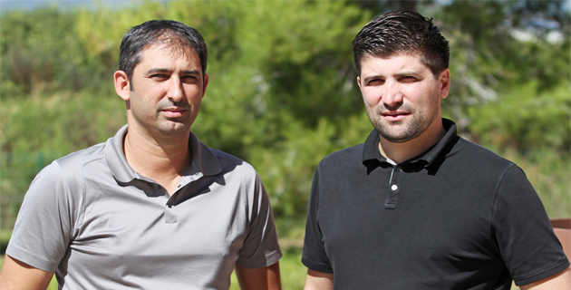 hilippe Garcia (à gauche) le président bastiais de My Coach Football