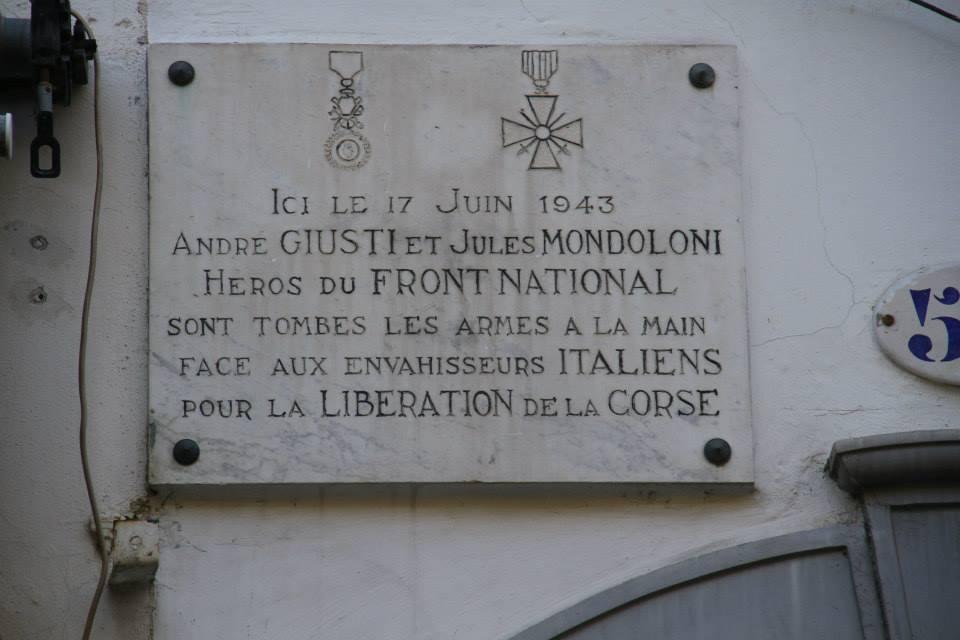 Ajaccio : Cérémonie à la mémoire d'André Giusti et Jules Mondoloni