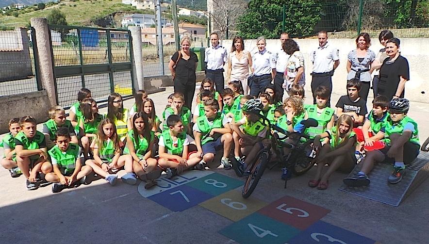"""Biguglia : Dernière session du """"Permis cycliste"""" à l'école Toussaint-Massoni"""