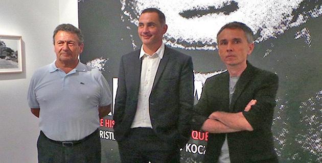 Gérard Koch (à gauche), Gilles Simeoni, Christian Buffa