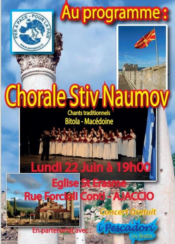 Ajaccio : Concert exeptionneĺ de la chorale Stiv Naumov de Bitola