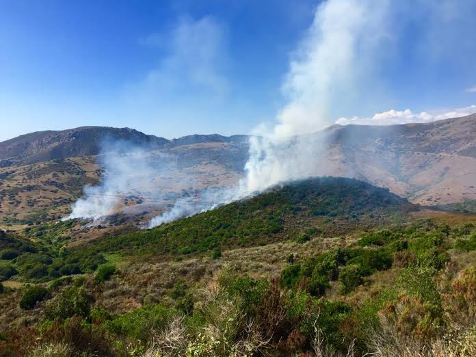 Golf de Lava, départ de feu