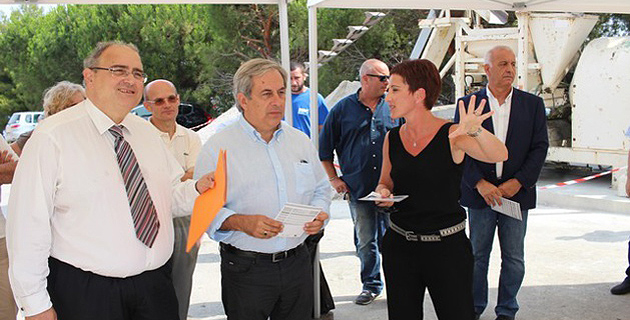 Paul Giacobbi visite le chantier de remise à niveau de la station d'eau potable de Calvi