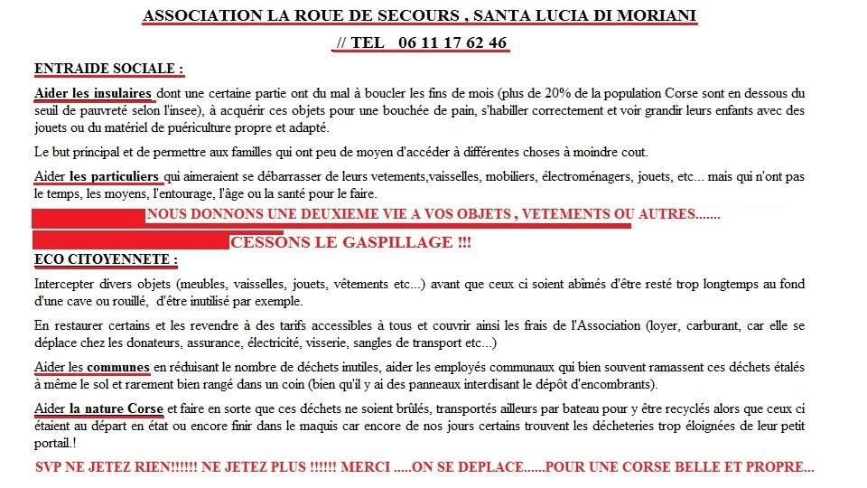 """Entraide sociale et éco-citoyenneté : Les deux objectifs de """"La roue de secours en  Corse"""""""