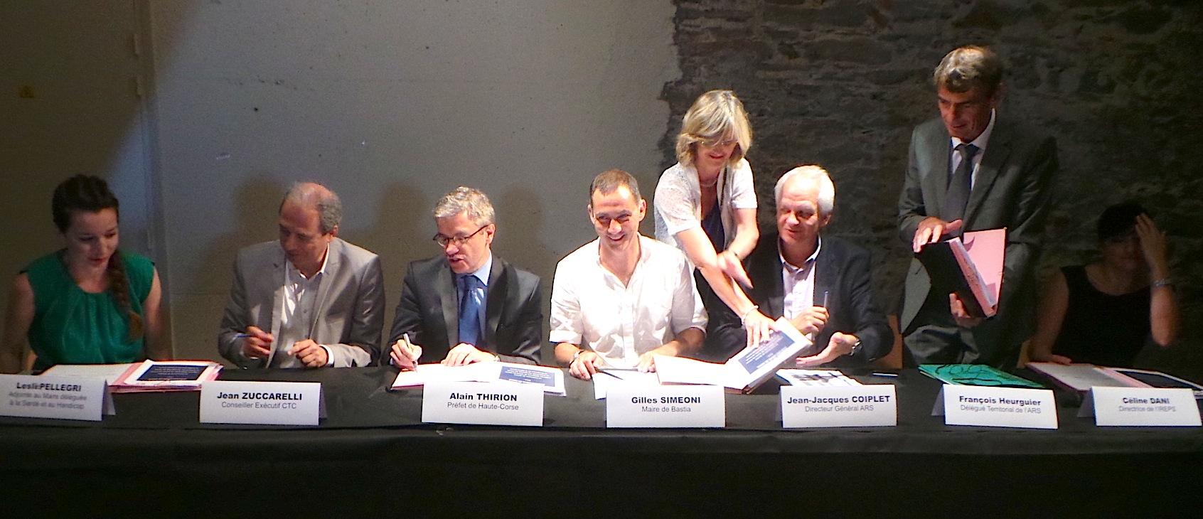 Bastia signe son contrat local de Santé
