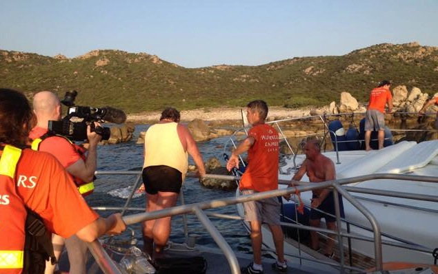 Un yatch fait naufrage à Campomoro : Trois personnes récupérées saines et sauves par la SNSM de Propriano