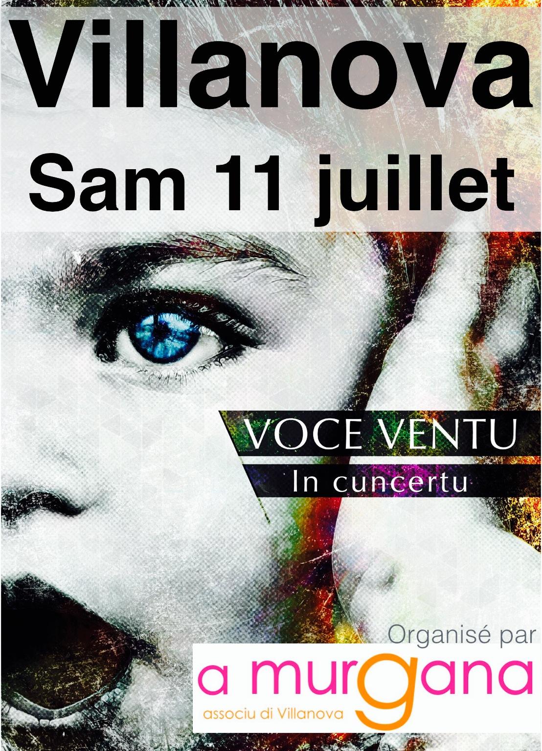 Voce Ventu en concert à Villanova samedi