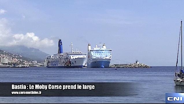 Bastia : Le Moby Corse prend le large…