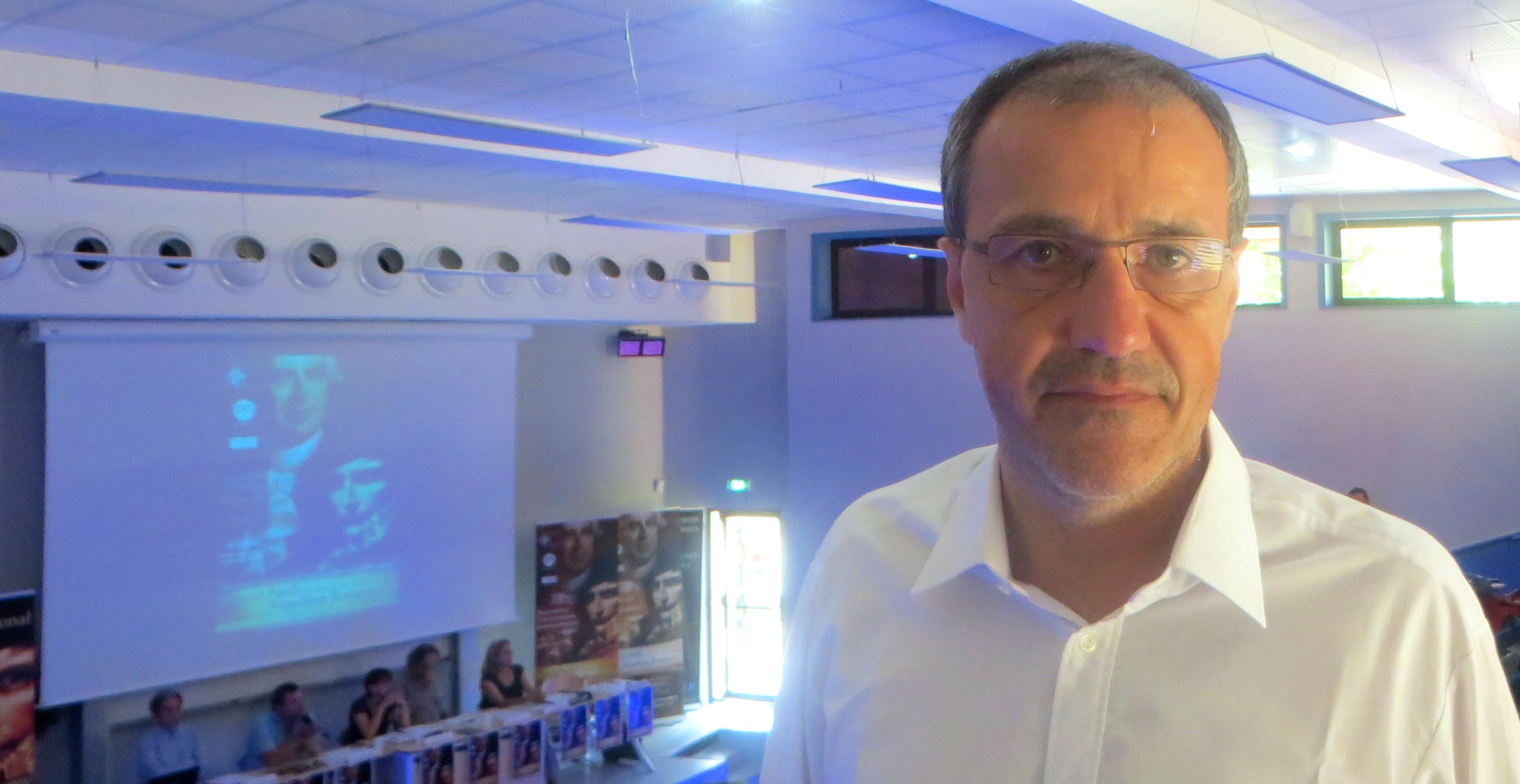 Jean-Guy Talamoni, conseiller territorial, leader de Corsica Libera et co-responsable du projet Paoli-Napoléon.