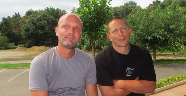 Cyrille Provent, membre du CDJA, éleveur caprin et bovin de Farinole, et Sébastien Costa, vice-président de la Chambre d'agriculture, éleveur caprin dans le Niolu.