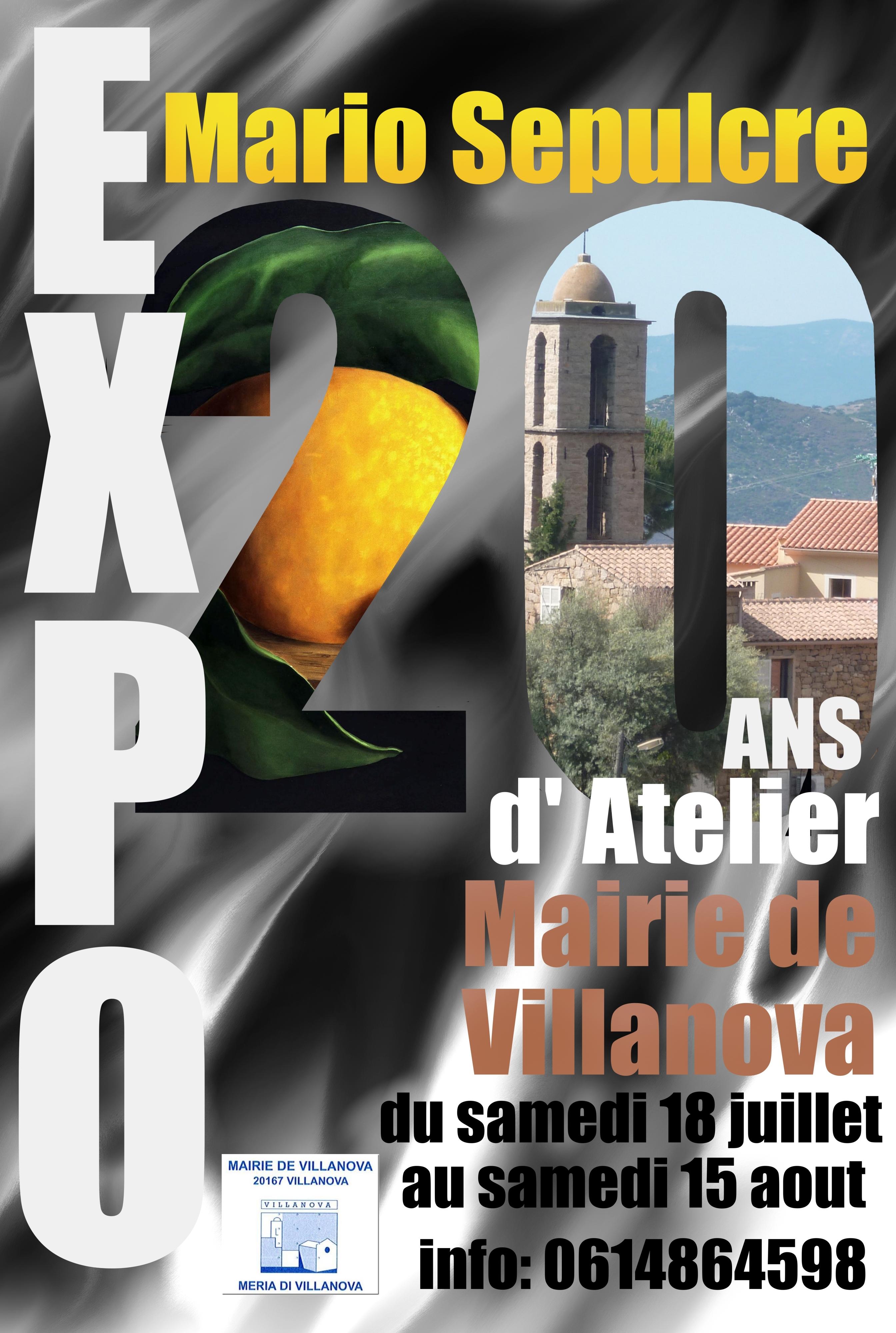 Exposition de Mario Sepulcre du 18 juillet au 15 août à la mairie de Villanova