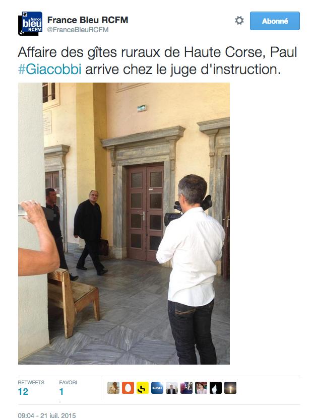 Paul Giacobbi entendu au palais de justice de Bastia
