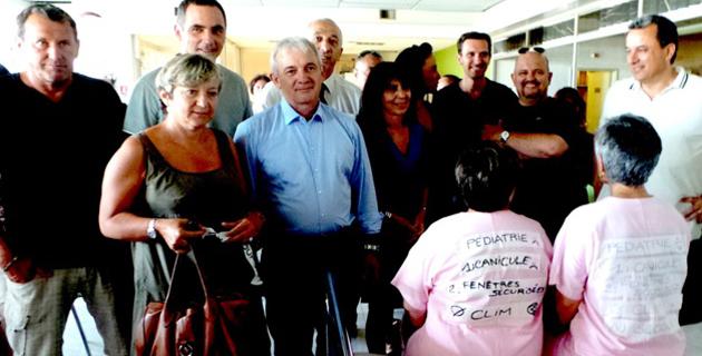 Le maire de Bastia, le président du conseil départemental, le président de la CAB, conseillers territoriaux et départementaux au chevet de l'hôpital de Falconaja