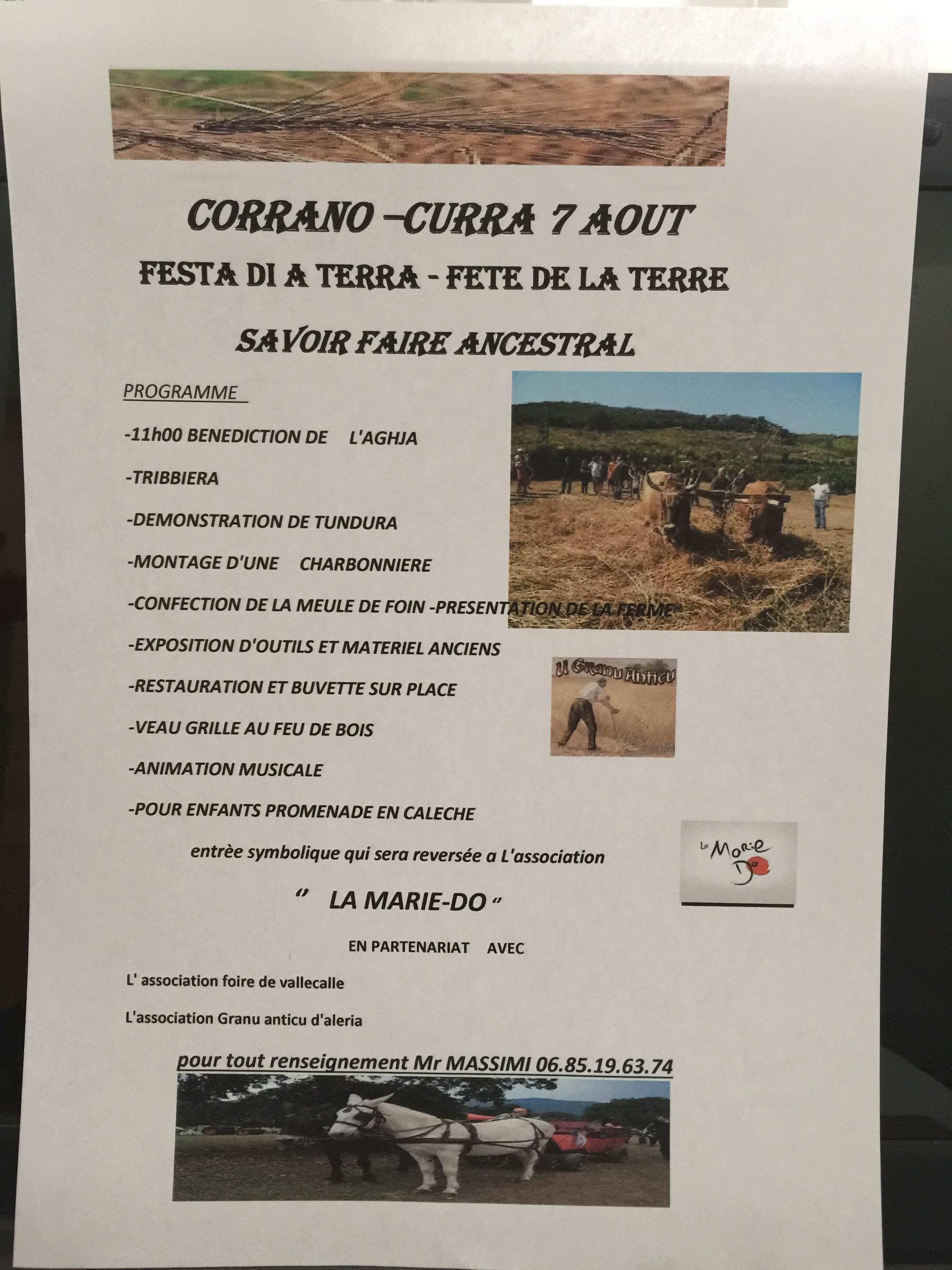 3ème édition de La Festa di a Terra à Corrano
