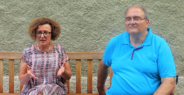 Maria Guidicelli, conseillère exécutive, et Paul Giacobbi, président sortant du Conseil exécutif de l'Assemblée de Corse.