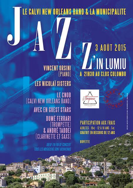 Jazz'in Lumiu avec la Calvi New Orleans band et la municipalité