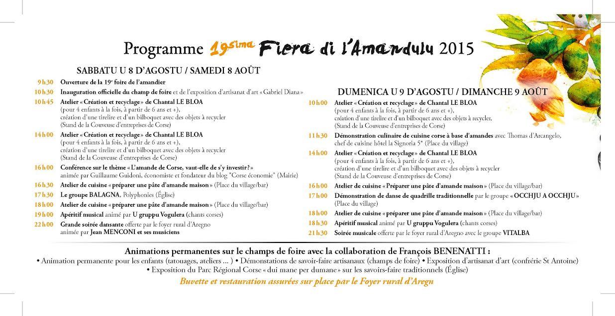 Fiera di l'amandulu : Samedi et dimanche à Aregnu