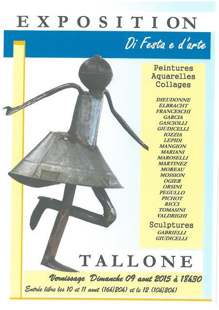 « Di Festa e d'Arte » à Tallone : Peintures, aquarelles, collages, sculptures