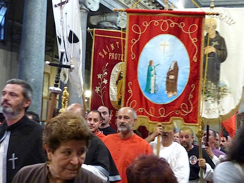 Rome :  De San Crisogono à la procession de la Madonna Fiumarola