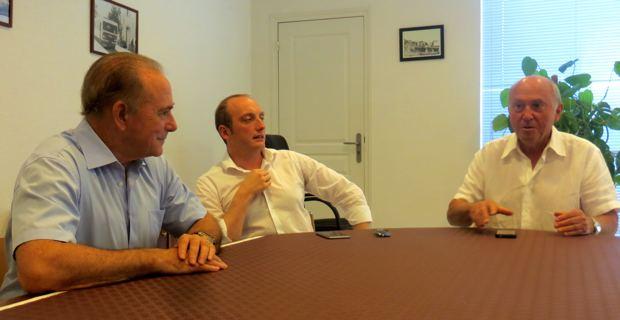 Sauveur Gandolfi-Scheit, Laurent Marcangeli et José Rossi.