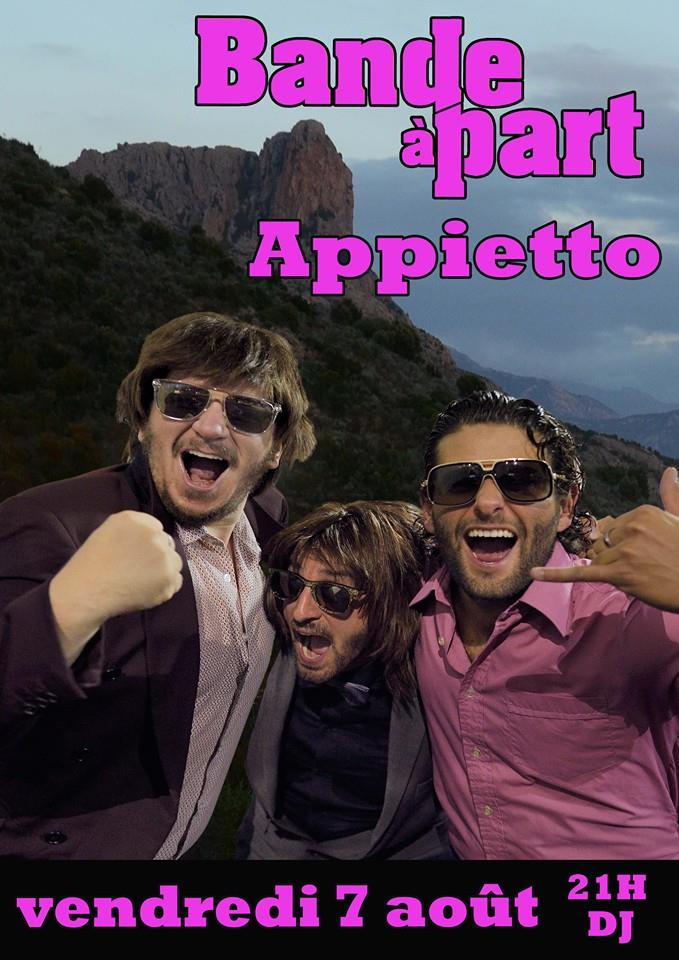 Le groupe Bande à Part à Appietto vendredi