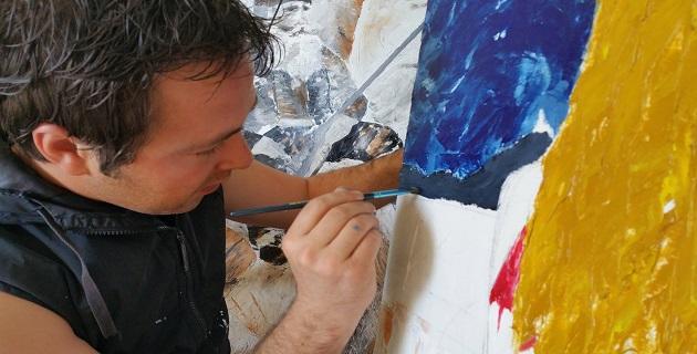 Adrien Martinetti peintre le temps d'un concert à Appietto