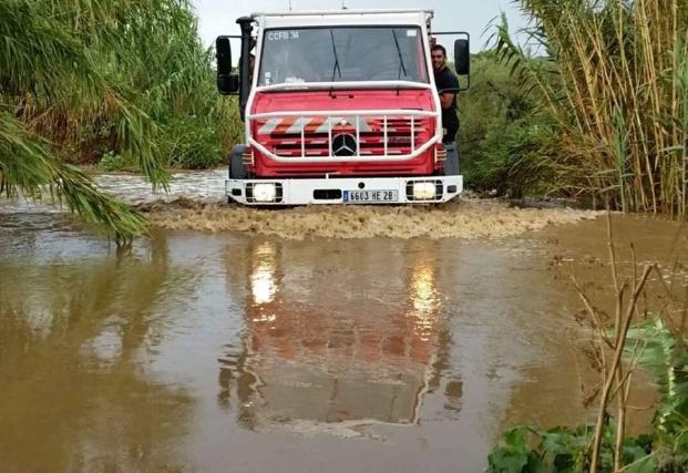 Inondations à Algajola : Plusieurs véhicules bloqués