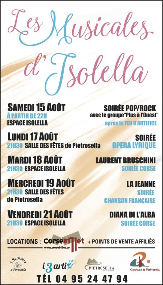Musicales de l'Isolella (15-21 août) : Laissez-vous bercer…