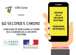 """CRIJ Corse : """"60 secondes chrono"""" pour sensibiliser aux dangers liés à l'alcool et à la vitesse au volant"""